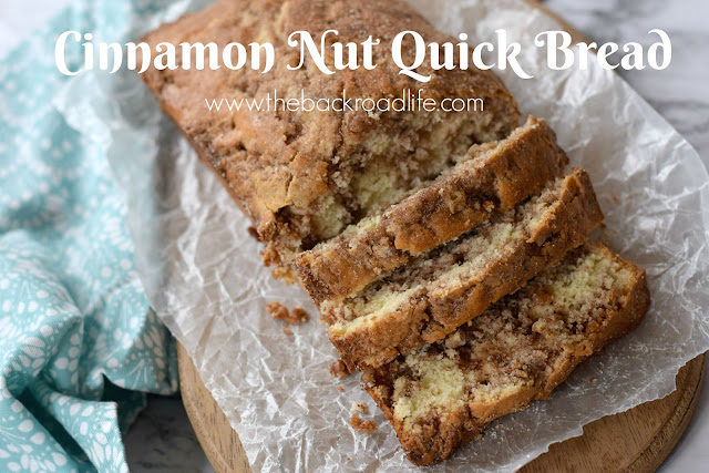 Simple Cinnamon Nut Quick Bread. Flavors of cinnamon and nuts in this moist bread. No yeast needed.