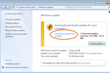 Cara Mematikan Notifikasi Windows Update pada Windows 7