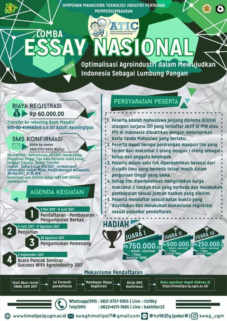 Contoh Essay Juara Nasional Ishik Edu Iq