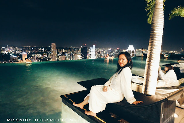 berenang di marina bay sands hotel