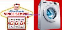 Logo Omino Bianco ti regala voucher premi sicuri e vinci 19 lavatrici Samsung