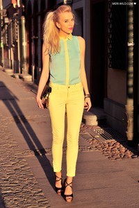 mohito shirt lemon + mint and lemon zara pants