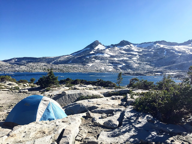Our campsite at Lake Aloha, Desolation Wilderness