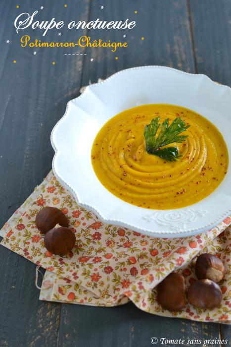 Soupe potimarron-châtaignes