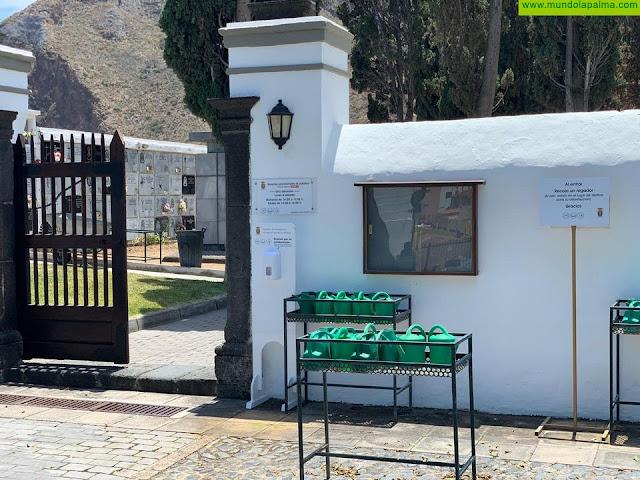 El cementerio de Santa Cruz de La Palma reabre sus puertas al público con medidas de seguridad excepcionales por el COVID-19