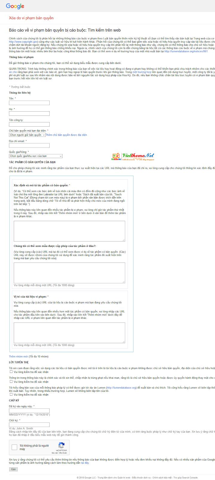 Báo cáo vi phạm bản quyền bài viết DMCA