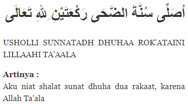 Tata Cara Bacaan Niat Doa Sesudah Sholat Dhuha Lengkap Artinya