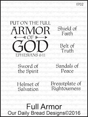 Our Daily Bread Designs Stamp Set - Full Armor