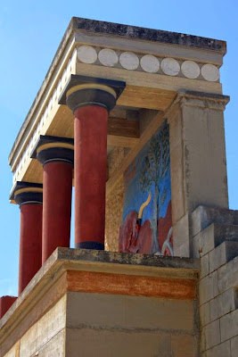 North entrance to the Knossos Palace in Crete