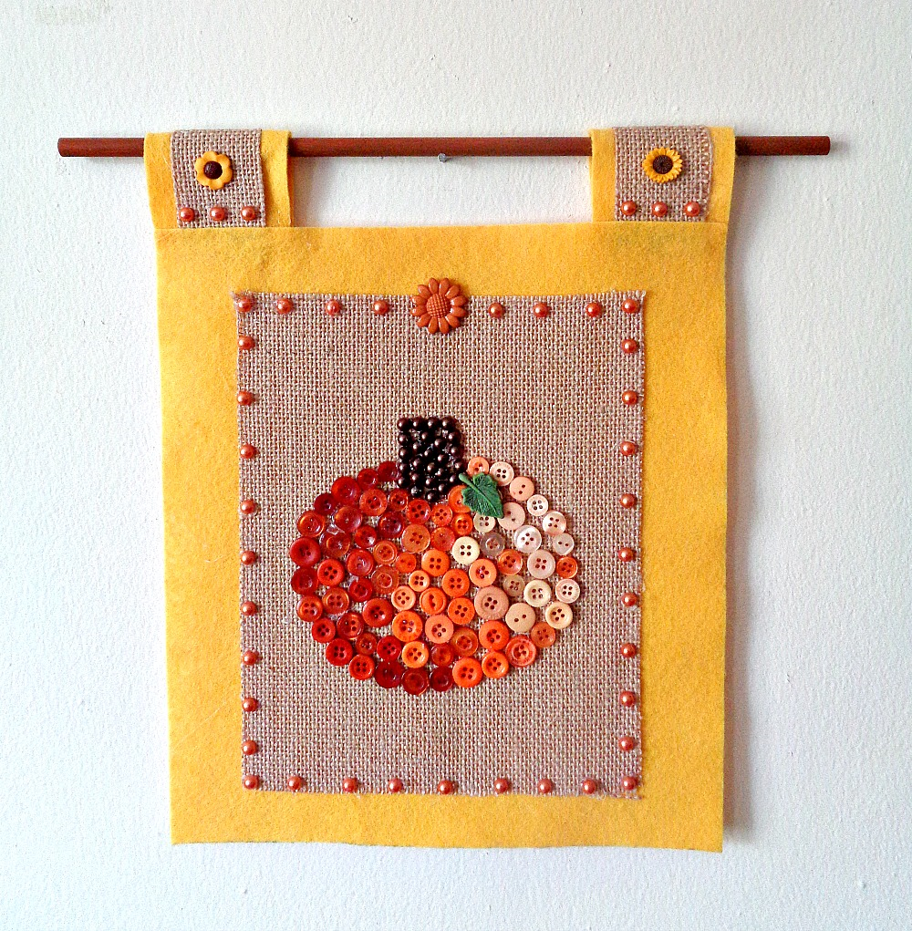 Buttons Galore & More: How To Make A DIY Button Pumpkin Wall