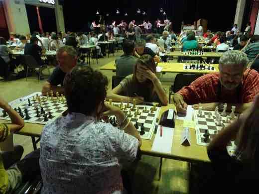 La salle de jeu du tournoi d'échecs de Créon - Photo © Facebook de Créon échecs