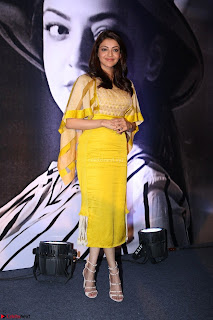 Kajal Aggarwal in Yellow Salwar Suit at Launch Of Mobile App 18th March 2017