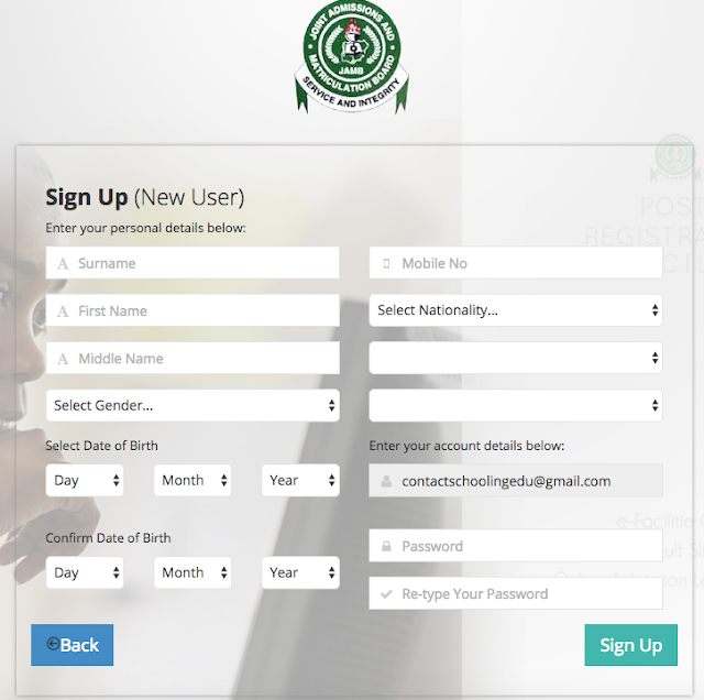 How to Create JAMB Profile for 2020/2021 Registration