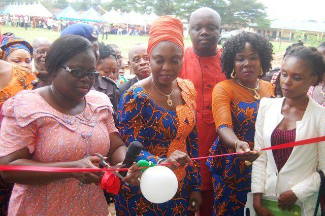Mrs. Nkechi Ikepazu at Ohanze Isiahia Community School in Obingwa Local Government Area.