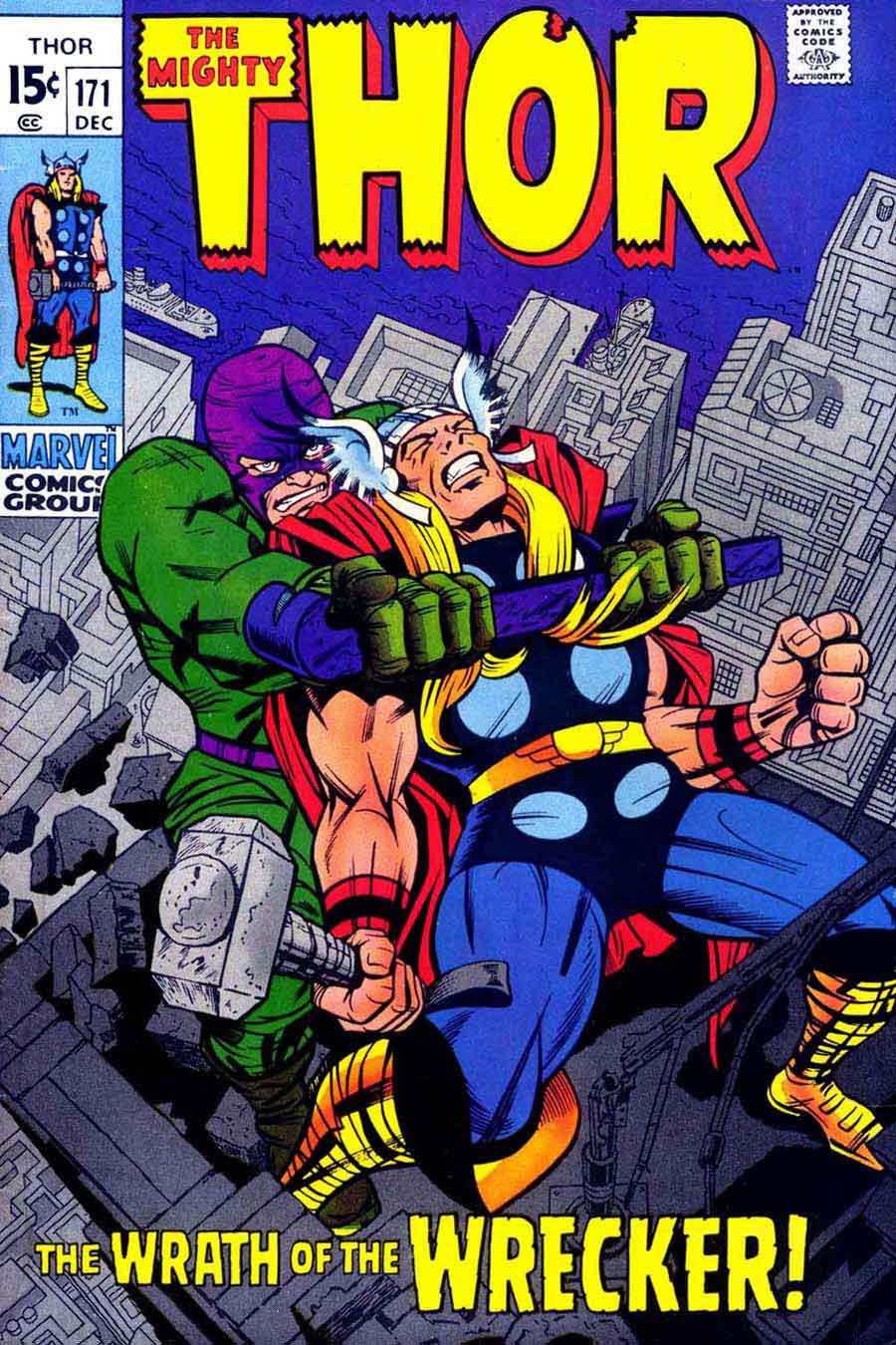 Thor v1 #171 marvel 1970s bronze age comic book cover art by Jack Kirby