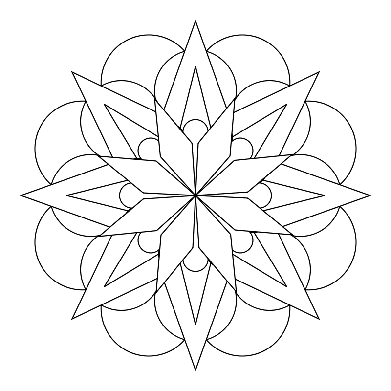 simple mandala flower coloring pages | What Tangled Webs!: My Mandala Templates