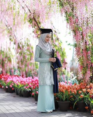 model hijab wisuda menutup dada terbaru