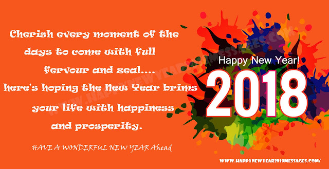 Happy new year wishes messages sms 2018 for friends lover