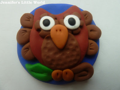 Fimo polymer clay owl craft