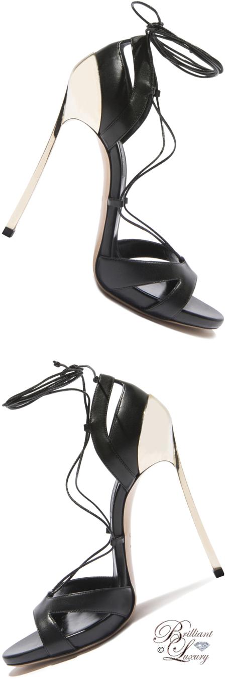 Brilliant Luxury ♦ Casadei Techno Blade Metallic Sandals