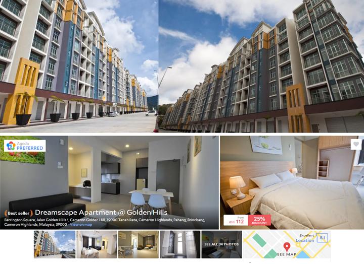 Cari Homestay Apartment Dekat Pasar Malam Brinchang