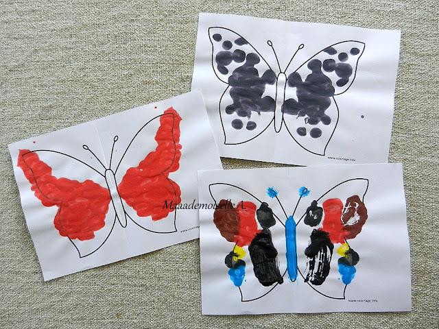 || Nos activités sur les papillons : Peinture symétrique