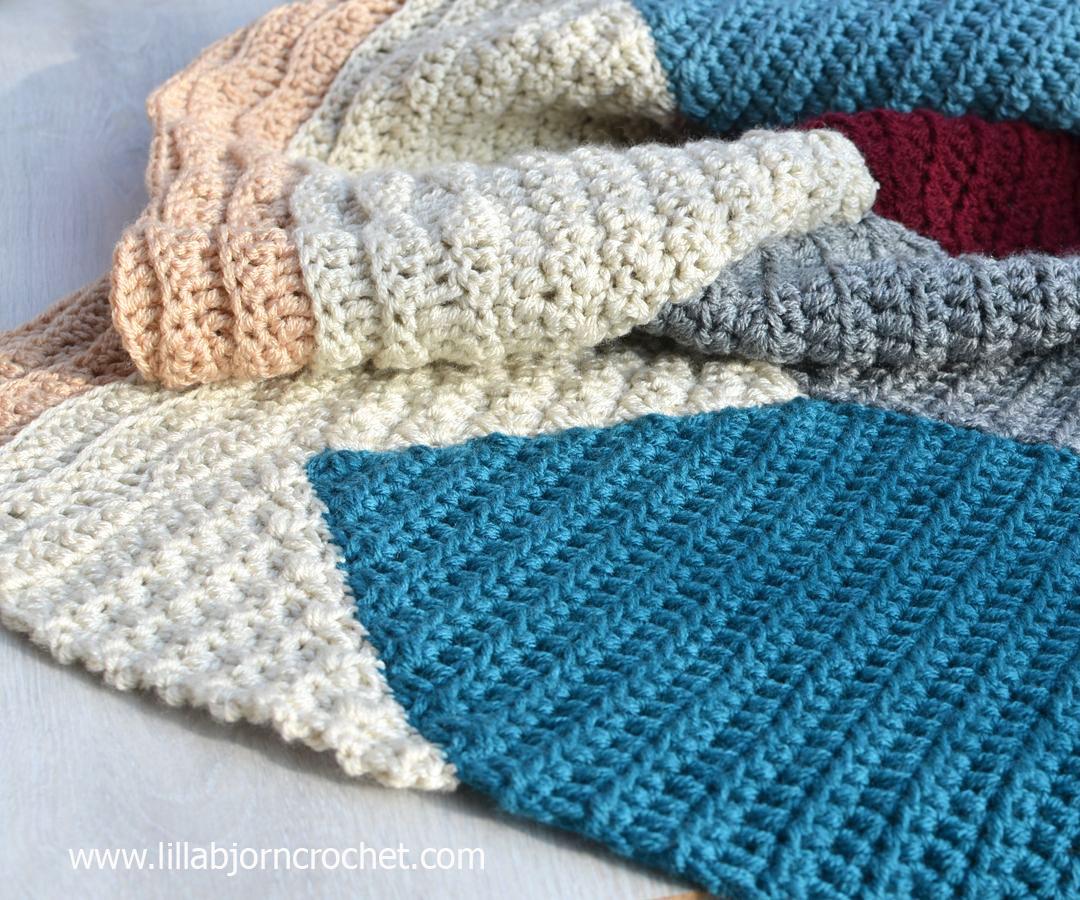 Crochet sea blanket by Lilla Bjorn Crochet - Birthday in Malmö