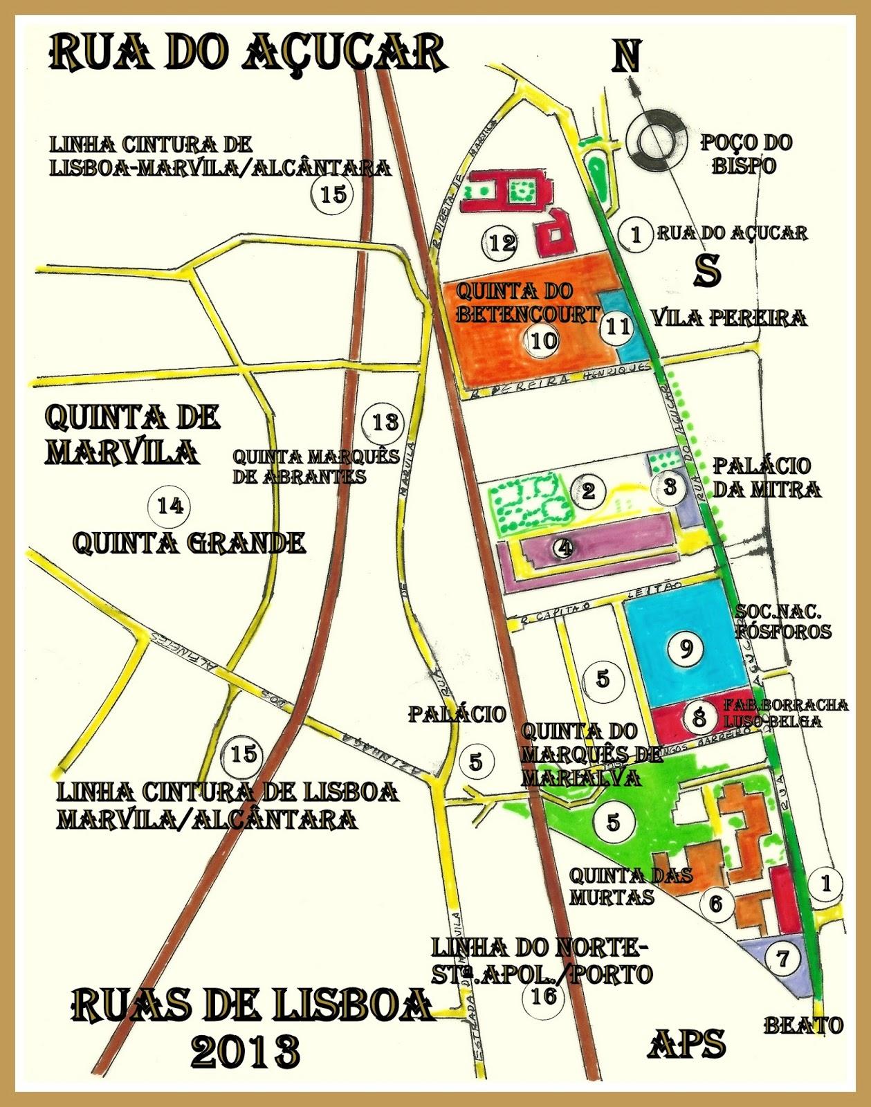 rua do açucar lisboa mapa RUAS DE LISBOA ALGUMA HISTÓRIA: RUA DO AÇÚCAR [ I ] rua do açucar lisboa mapa