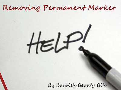 How to remove permanent marker from the wall,by Barbie's Beauty Bits