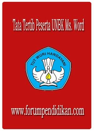 Tata Tertib Peserta UNBK Ms. Word