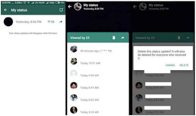 Cara Membuat, Mengedit, Menghapus Update Status WhatsApp, Begini caranya