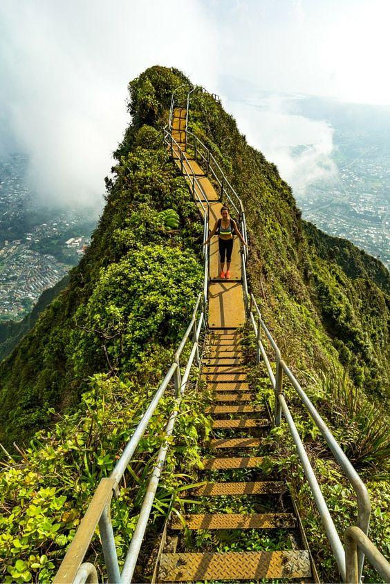 The Stairway to Heaven, Oahu, Hawaii