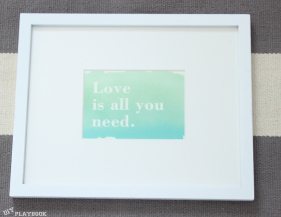framed greeting card