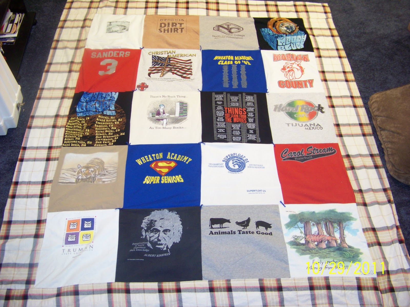 In between the lines how to make a t shirt quilt in 38 for How to make t shirt quilts easy