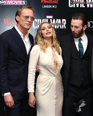 Chris Evan kayaknya kagum banget sama Elizabeth Olsen