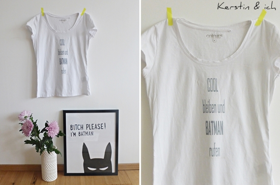 DIY Lavendeldruck T-Shirt Batman