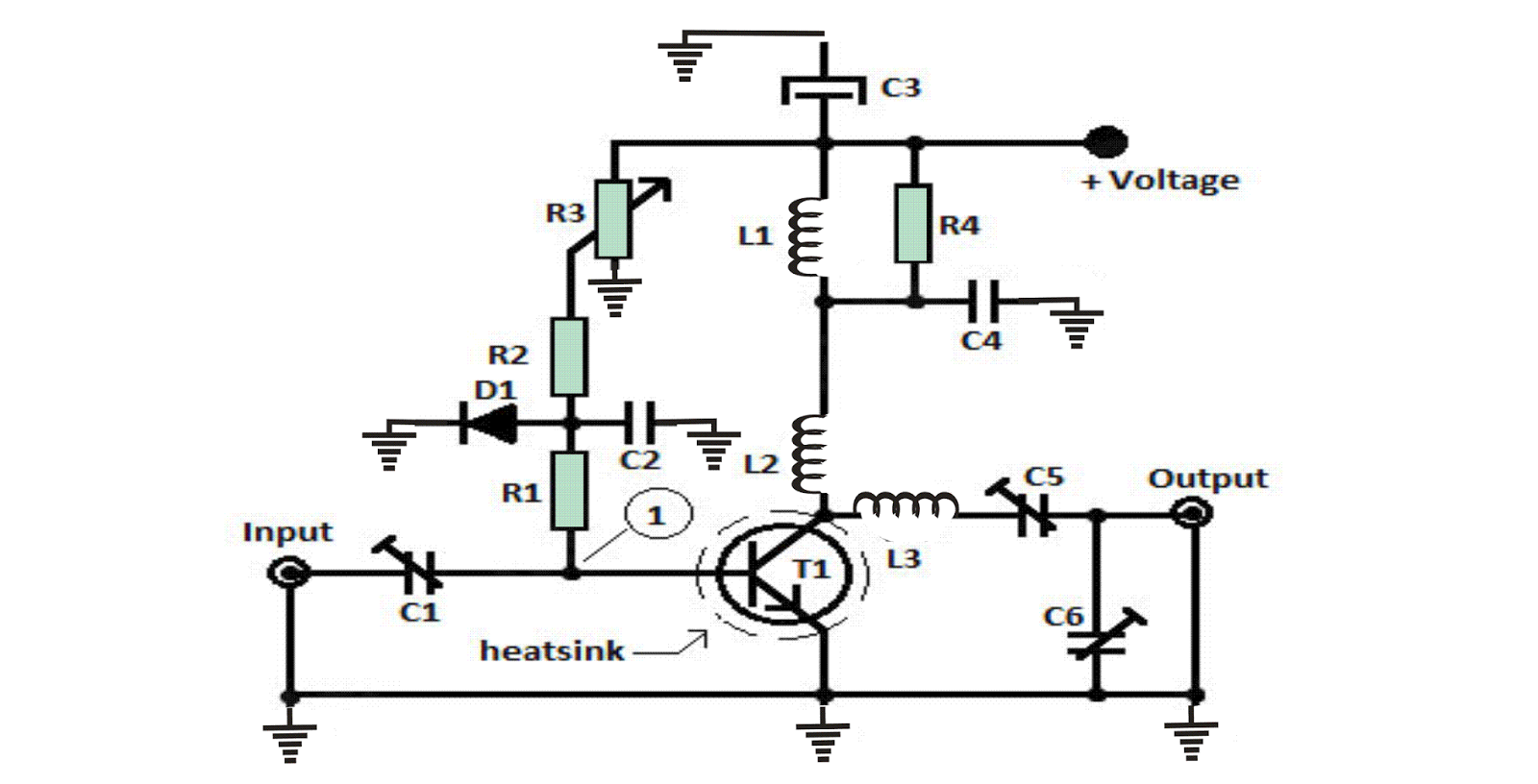 fm transmitter circuit diagram using crystal oscillator