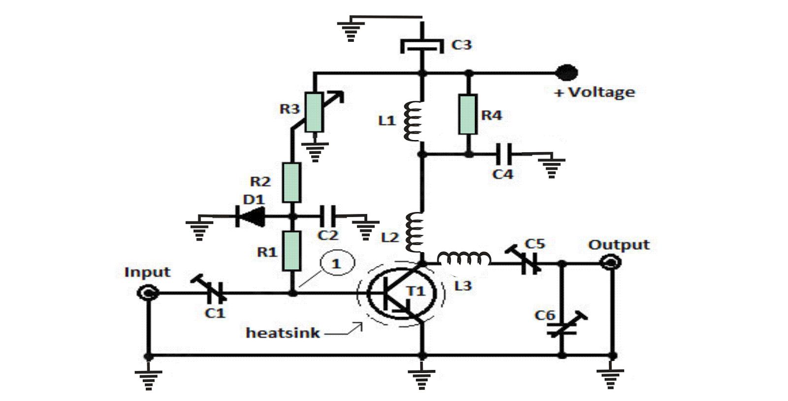 1 Watt, 10km FM Transmitter Circuit
