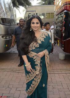 Vidya Balan looks super cute in Green saree