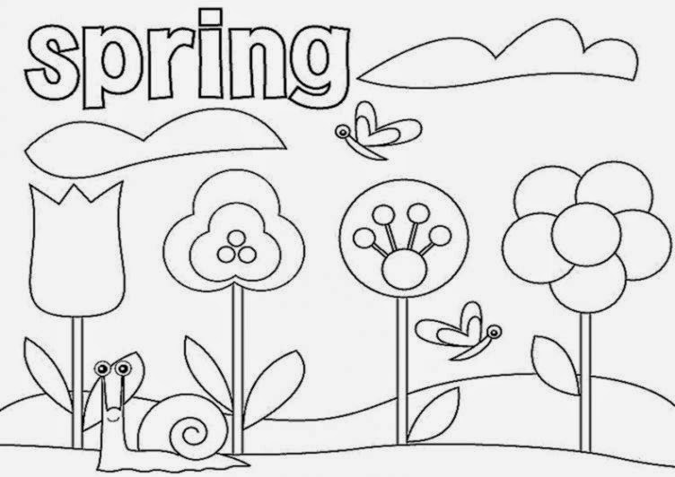 spring coloring pages for kindergarten - coloring pages for preschoolers free coloring sheet