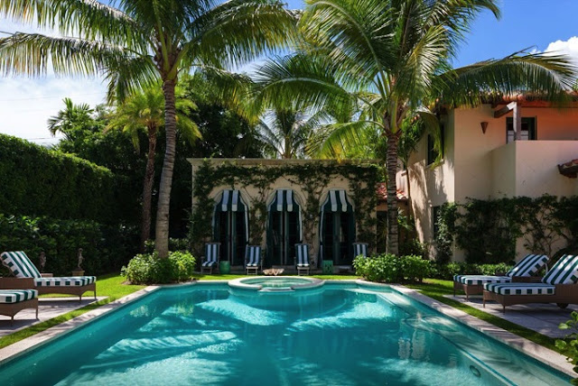 The glam pad carleton varney designs a palm beach masterpiece - Palm beach swimming pool ...