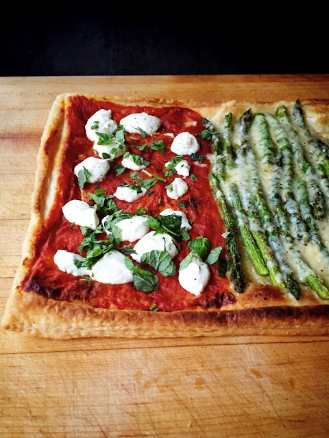 Martha Stewart Puff Pastry Tart Harissa and Goat Cheese, Asparagus and Gruyere, or Potato and Rosemary (Or All Three)