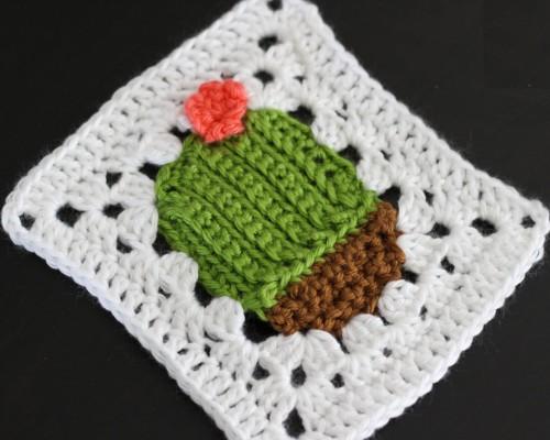 Succulent Cacti Granny Square - Free Pattern
