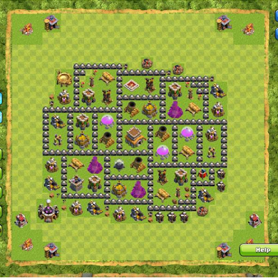 Formasi Base TH 8 COC Terbaik