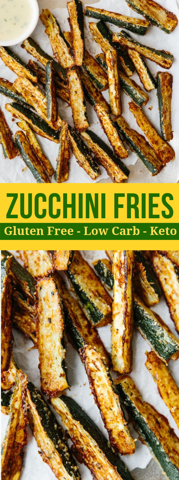 BAKED ZUCCHINI FRIES (GLUTEN-FREE, LOW-CARB) #diet #lowcarb
