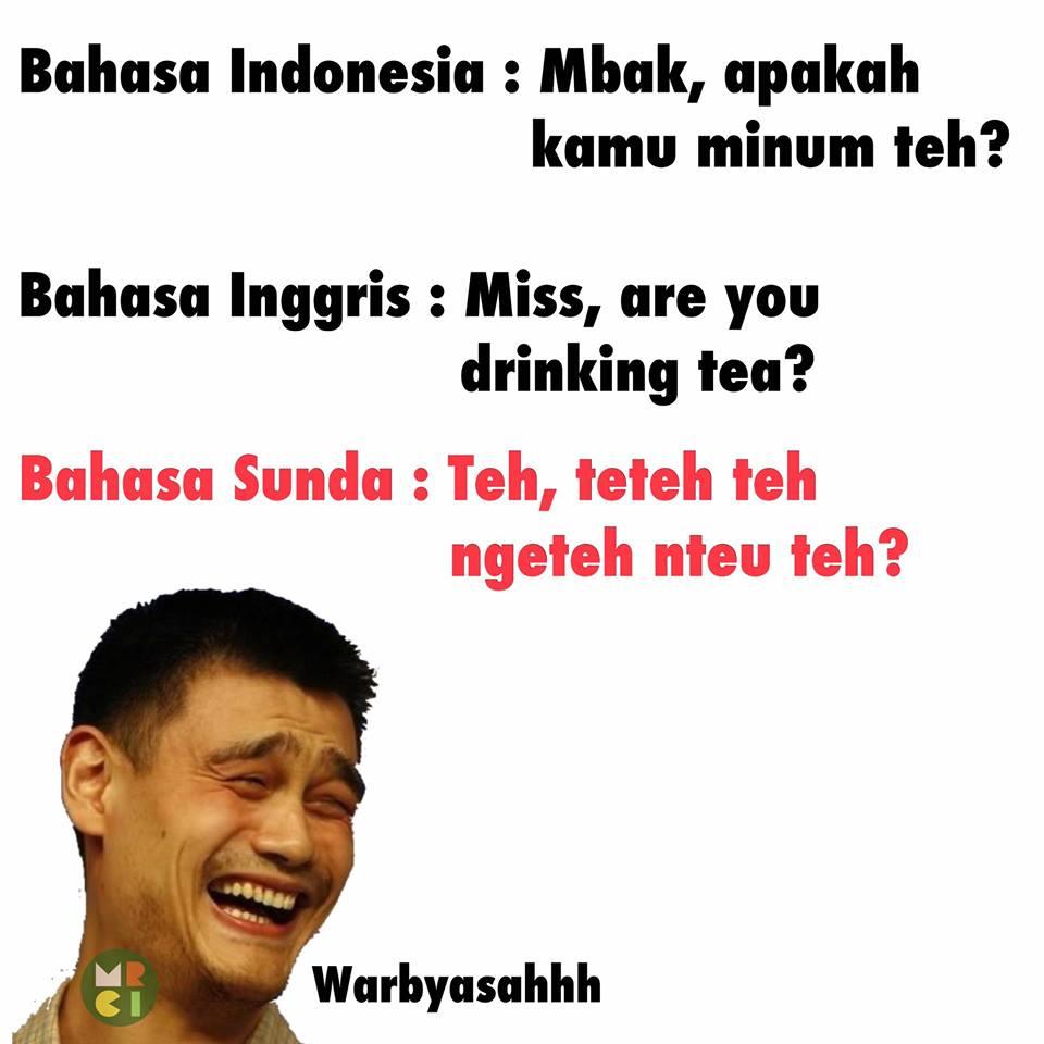 Meme lucu bahasa sunda ngakak