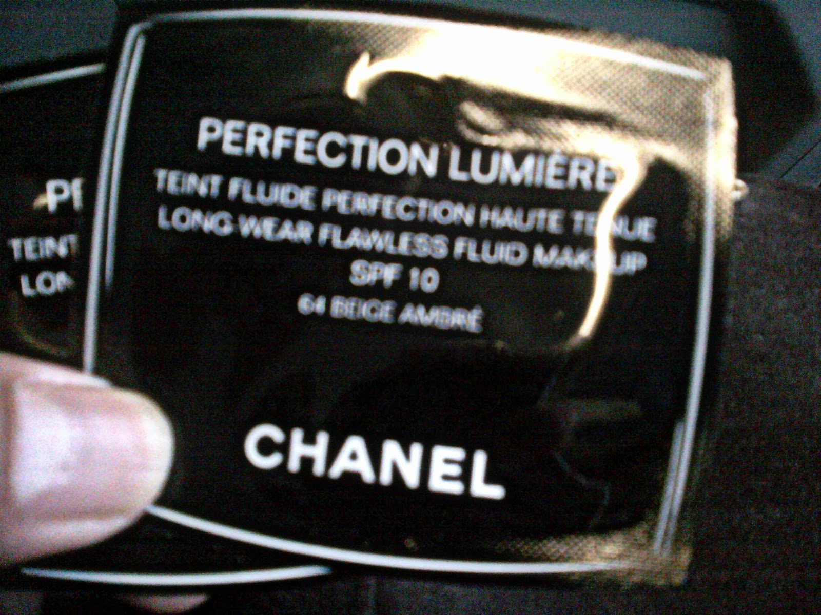 Farhana J S Blog 1st Impression Chanel Perfection