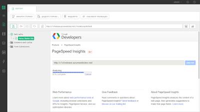 Анализ страницы с помощью Google Page Insights в Composite C1 CMS 5.0
