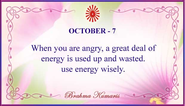 Thought For The Day October 7