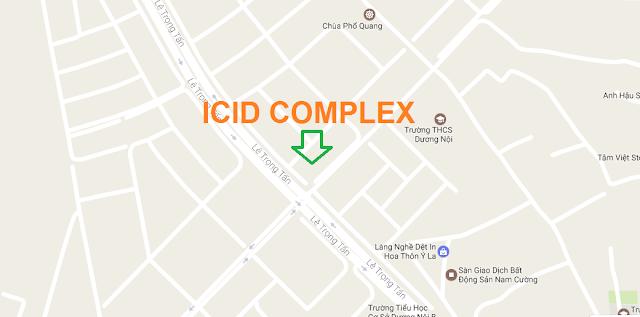 Vị trí chung cư ICID Complex